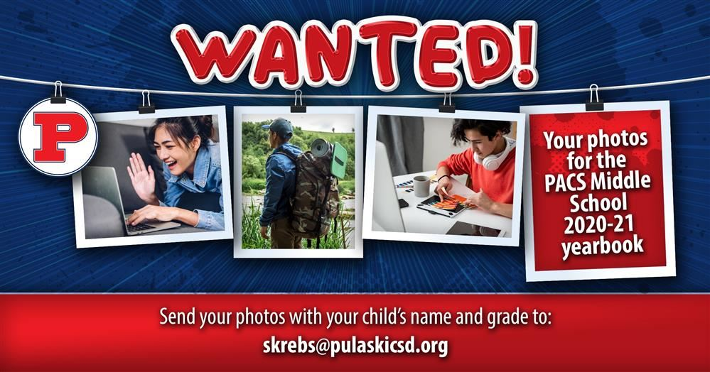 Submit Your Photos for the 2020-21 Middle School Yearbook