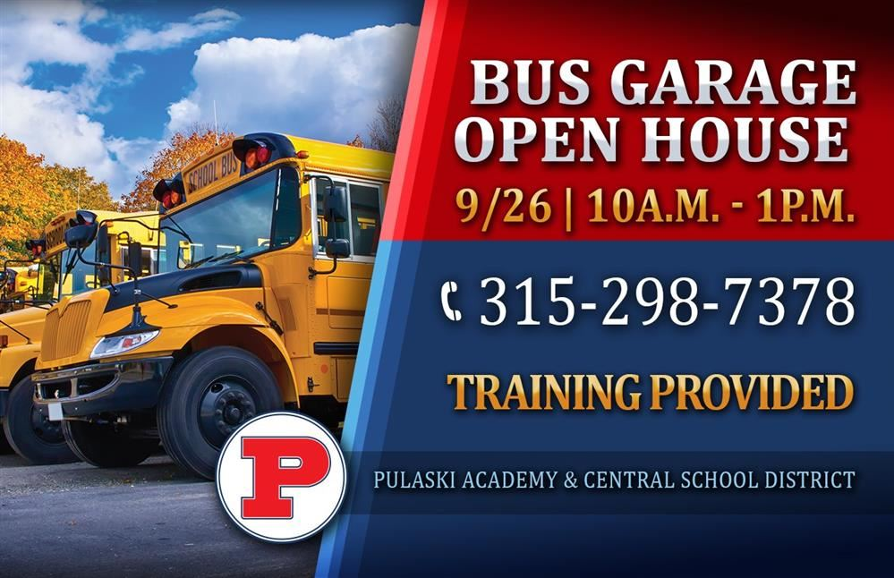 Bus Garage Open House Set for September 26